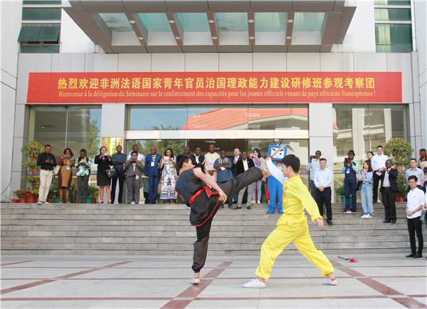 学院学生展示铿锵有力的武术表演赵兰摄.JPG