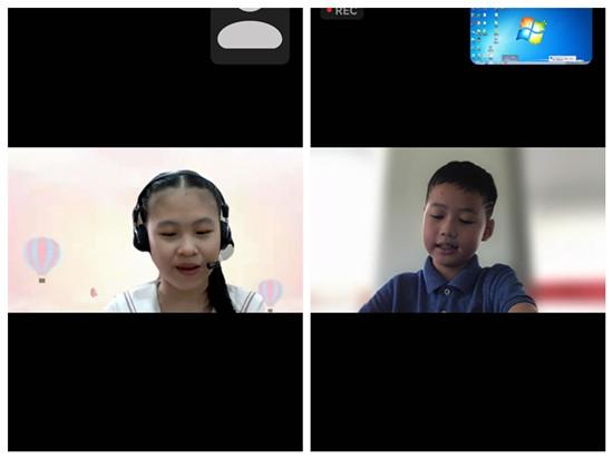 菲律宾华裔青少年营员施雅琪、邱柏霖主持闭营仪式.jpg